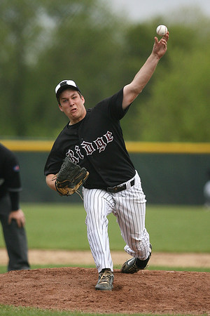 Mike Greene - mgreene@shawmedia.com Prairie Ridge's George Frost pitches during a game against Marian Central Wednesday, April 18, 2012 in Woodstock. Marian Central won the gam 7-6.