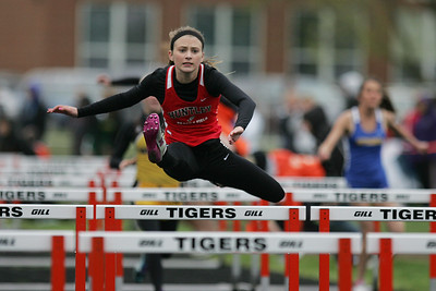 Mike Greene - mgreene@shawmedia.com Huntley's Macy Tramblay competes in the third heat of the girls semi-finals during the McHenry County Track & Field Meet Thursday, April 19, 2012 in Crystal Lake.