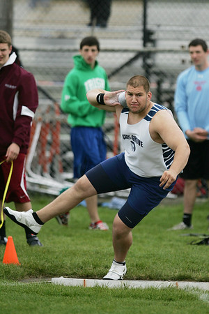 Mike Greene - mgreene@shawmedia.com Cary-Grove's Josh Freeman competes in the shot put during the McHenry County Track & Field Meet Thursday, April 19, 2012 in Crystal Lake. Freeman won first place in the event with a throw of 65-1, which ranks as the third best in state history.