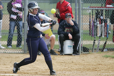 Mike Greene - mgreene@shawmedia.com Cary-Grove's Jamie Deering swings at a pitch while facing Belvidere North during the Woodstock Softball Invitational Saturday, April 21, 2012 in Woodstock. Cary-Grove won the game 13-5.