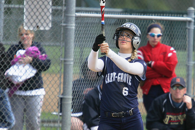 Mike Greene - mgreene@shawmedia.com Cary-Grove's Sara Markelonis focuses before going to bat against Belvidere North during the Woodstock Softball Invitational Saturday, April 21, 2012 in Woodstock. Cary-Grove won the game 13-5.