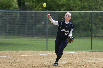 Mike Greene - mgreene@shawmedia.com Cary-Grove's Jamie Deering throws to first in a game against Belvidere North during the Woodstock Softball Invitational Saturday, April 21, 2012 in Woodstock. Cary-Grove won the game 13-5.