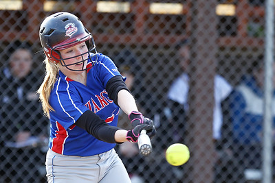 Mike Greene - mgreene@shawmedia.com Dundee-Crown's Amanda Eissler swings at a pitch during a game against Jacobs Monday, April 23, 2012 in Algonquin. Jacobs won the game 7-2.