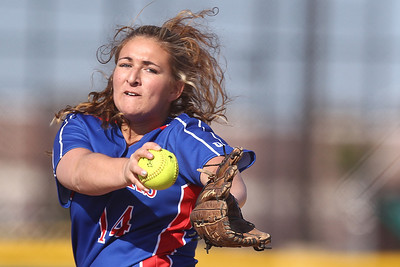 Mike Greene - mgreene@shawmedia.com Dundee-Crown's Melany Love pitches during a game against Jacobs Monday, April 23, 2012 in Algonquin. Jacobs won the game 7-2.