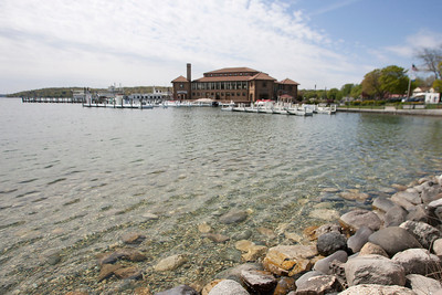 Mike Greene - mgreene@shawmedia.com The Riviera Lakefront Facility is surrounded by a beautiful shoreline as seen Tuesday, April 24, 2012 in Lake Geneva. The facility offers meeting facilities, an incredible beach, and an historic ballroom, with nearby boutiques, shops, restaurants and daily boat cruises.