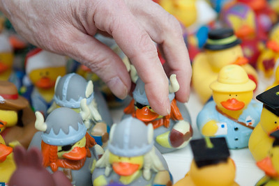 Mike Greene - mgreene@shawmedia.com Ruth Hackman, owner of Aerial Stunt Kites LLC, points out some of the popular rubber duckies she offers Tuesday, April 24, 2012 at her store in Lake Geneva. Aerial Stunt Kites LLC offers a variety of kites, games, and toys most of which are geared towards physics and enjoying the outdoors.