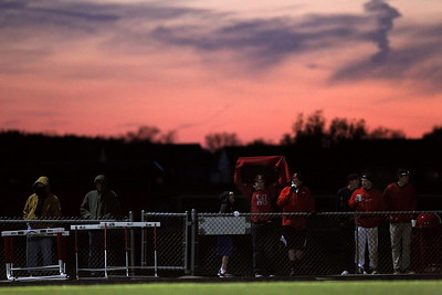 Daniel J. Murphy - dmurphy@shawmedia.com  Onlookers watch the Huntley-Jacobs girls soccer game as it enters overtime Thursday April 26, 2012 at Huntley High School. Huntley defeated Jacobs in a shootout.