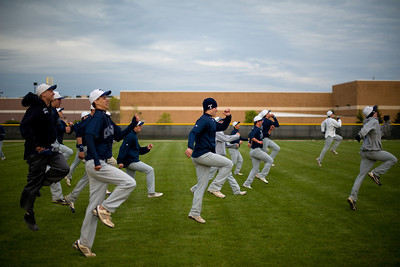 Daniel J. Murphy - dmurphy@shawmedia.com  The Cary-Grove baseball team runs a drill after their 3-1 win over Jacobs Thursday April 26, 2012 at Huntley High School.
