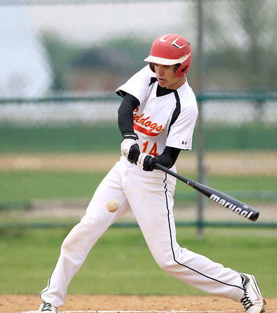 Batavia's Micah Coffey gets a hit during their home game against Streamwood Thursday.