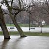 Island Park in Geneva is still flooded after Thursday's rain.