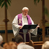 Pastor Rev. Stevn Srock presides over Palm Sunday Mass<br /> at Bethany Lutheran Church in Batavia, IL on Sunday, March 24, 2013 (Sean King for The Kane County Chronicle)