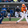 St. Charles East's Nicholas Erickson (2) slaps a base hit against the St. Charles North at Fifth Third Bank Ballpark in Geneva, IL on Monday, April 29, 2013 (Sean King for Shaw Media)