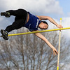 Jeff Krage – For the Kane County Chronicle<br /> Geneva's Jenna Ginsberg competes in the pole vault during Friday's Kane County Girls Track Meet at Geneva High School.<br /> Geneva 4/26/13
