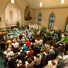 Pastor Rev.Steven Srock talks to parishioners during Palm Sunday at Bethany Lutheran Church in Batavia, IL on Sunday, March 24, 2013 (Sean King for The Kane County Chronicle)