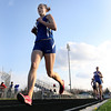 Jeff Krage – For the Kane County Chronicle<br /> St. Charles North's Ashley England competes in the 3200 meter run during Friday's Kane County Girls Track Meet at Geneva High School.<br /> Geneva 4/26/13