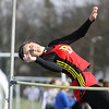 Jeff Krage – For the Kane County Chronicle<br /> Batavia's Paulina Szakiel competes in the high jump during Friday's Kane County Girls Track Meet at Geneva High School.<br /> Geneva 4/26/13