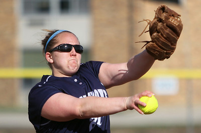 Sarah Nader - snader@shawmedia.com Cary-Grove's Lindsay Efflandt pitches during Monday's game against Prairie Ridge in Cary on April 22, 2013. Cary-Grove won, 3-1.