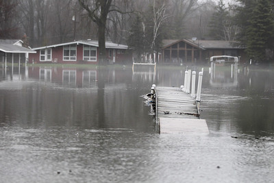 Monica Maschak - mmaschak@shawmedia.com As of 11:30 a.m. on Thursday the Fox River was at approximately 11.84 feet, which continues to cause flooding in the floodplain. The river crest is projected to be at 14 feet by Saturday. McHenry County Board Chairwoman Tina Hill has declared McHenry County a disaster emergency area. The declaration allows the state to provide assistance to the county. It lasts through Wednesday, April 24, but the McHenry County Board could choose to extend the declaration as needed.