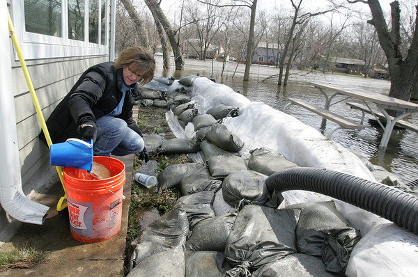 Floodwaters pushing record levels