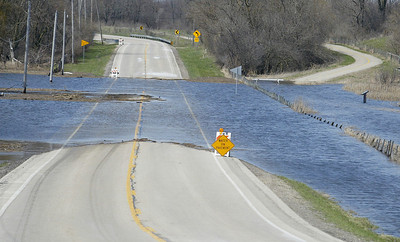 H. Rick Bamman - hbamman@shawmedia.com  River Rd. is closed Sunday north of Fernview Ln. near Moraine Hills State Park.