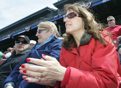 H. Rick Bamman - hbamman@shawmedia.com Prairie Ridge graduate Michael Heesch's grandparents (from left) Sam and Maureen Girardi along with his parents Terrie and Fred Heesch watch from the stands Sunday, April 7, 2013 at Fifth Third Bank Ballpark in Geneva.