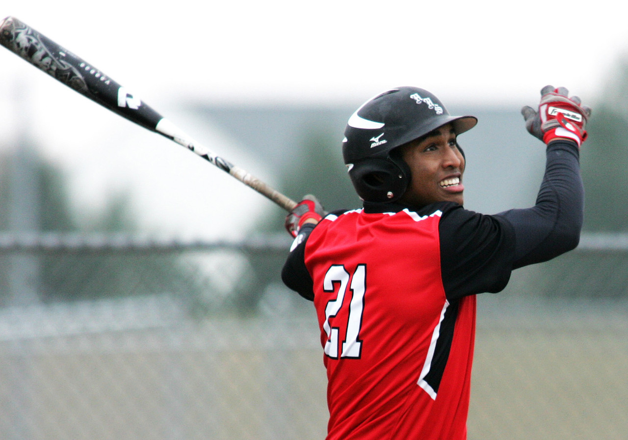 H. Rick Bamman - hbamman@shawmedia.com Huntley's Bryce Only watches his three run homer sail over the right field fence in the first inning Tuesday, April 9, 2013. Huntley shut out Hampshire 10-1.
