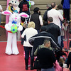 A line form for pictures with the Easter bunny during Saturday's Easter celebration on the campus of Mooseheart. (Jeff Krage for Shaw Media)