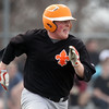 Jeff Krage – For Shaw Media<br /> St. Charles East's Ben Smith heads toward first base during Thursday's game at South Elgin.<br /> South Elgin 4/10/14