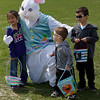 Karen Naess For The Kane County Chronicle<br /> Kid's gather to see the Easter Bunny during the first ever Batavia Easter egg hunt on Saturday.