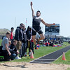Kaneland Long Jumper Ben Barnes executes a jump during The Peterson Prep Track Meetat Kaneland High School in Maple Park, IL on Saturday, April 26, 2014 (Sean King for Shaw Media)