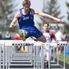 Geneva's James Carroll competes in the 110 Meter Hurdles during The Peterson Prep Track Meet<br /> at Kaneland High School in Maple Park, IL on Saturday, April 26, 2014 (Sean King for Shaw Media)