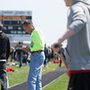 Kaneland Girls Track Coach Doug Ecker officiates the boys long jump event during The Peterson Prep Track Meet at Kaneland High School in Maple Park, IL on Saturday, April 26, 2014 (Sean King for Shaw Media)