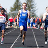 Geneva's Tim Roles  runs the 100 Meter Dash during The<br /> Peterson Prep Track Meet at Kaneland High School in Maple Park, IL on Saturday, April 26, 2014 (Sean King for Shaw Media)