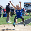 Geneva Long Jumper Justin Taormina executes a jump during The Peterson Prep Track Meet at Kaneland High School in Maple Park, IL on Saturday, April 26, 2014 (Sean King for Shaw Media)
