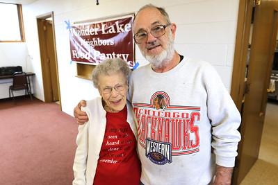 H. Rick Bamman - hbamman@shawmedia.com TheWonder Lake Neighbors food pantry at will celebrate the 96th birthday of their oldest volunteer Virginia Hartung and all their wonderful volunteers.