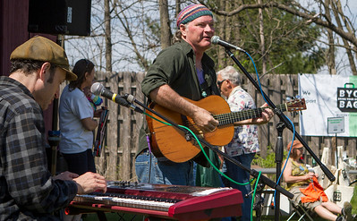 Mike Greene - For Shaw Media Ken Lonnquist, right, performs with Dave Adler during Earth Day Celebration 2016 Saturday, April 23, 2016 at Prairieview Education Center in Crystal Lake. The event included guided nature hikes, games and crafts, puppet Shows, over 20 environmental exhibitors, as well as food & beverage vendors.