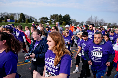 Michelle LaVigne/ For Shaw Media Participants of the McHenry County Human Race begin their 5K trek at McHenry County College on Sunday April 24, 2016.  The runners choose which charity they wanted their race fee to benefit.