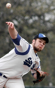 Mike Greene - For Shaw Media  Woodstock's Daniel Mutter pitches during a baseball game against Woodstock North Saturday, April 30, 2016 at Emricson Park in Woodstock. Woodstock North defeated Woodstock 15-7.