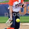 Oswego pitcher Annie Scaramuzzi hurls the ball to a Plainfield North batter during a varsity softball game at Oswego High School on Friday, April 28, 2017.<br /> Steve Buyansky for Shaw Media