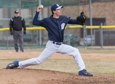 Cary-Grove starting pitcher, Robert Deischer, delivers the pitch against Prairie Ridge Monday, April 2, 2018 in Cary. Prairie Ridge went on to win the game 6-5 in the extra-inning game.  KKoontz- For Shaw Media