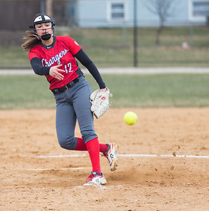 Whitney Rupp for Shaw Media Sydney Ruggles of Dundee-Crown pitches at home Tuesday, April 10.