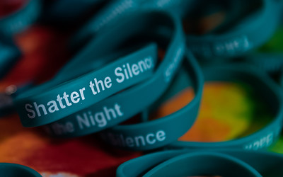"""Shatter the Silence"" was a theme at the 8th annual domestic violence and sexual violence awareness event ""Take Back the Night"" at McHenry County College Wednesday, April 11, 2018 in Crystal Lake.  KKoontz- For Shaw Media"