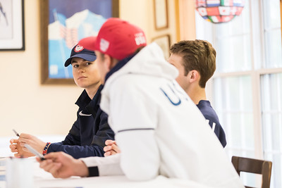 Whitney Rupp for Shaw Media Olympic ski jumper Casey Larson, left, participates in a meet and greet at Norge Ski Club in Fox River Grove Saturday with fellow Olympians Mike Glasder and Kevin Bickner.