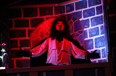 "Candace H. Johnson-For Shaw Media The Beast (Jack Myers) sings the song, ""If I Can't Love Her,"" in Scene 7 during dress rehearsal for Disney's Beauty and the Beast at Grant Community High School in Fox Lake. The musical will run April 19 & 20 at 7:00 pm and April 21 & 22 at 2:00 pm.(4/17/18)"