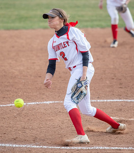Huntley's Teagan O'Rilley started on the mound against Crystal Lake South Monday, April 23, 2018 in Huntley. Huntley goes on to win 11-7, snapping the Gators five game winning streak. KKoontz- For Shaw Media