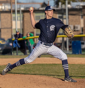 Cary-Grove's Quinn Priester takes the save against Huntley Tuesday, April 24, 2018 in Cary. Cary went on to win the close contest 3-0.  KKoontz – For Shaw Media