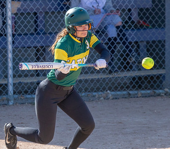 Crystal Lake South's Kyra Swartz lays down a bunt against Cary-Grove Wednesday, April 25, 2018 in Cary. Crystal Lake South goes on to win 10-2. KKoontz-For Shaw Media