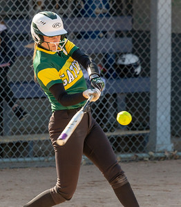 Crystal Lake South's Christina Toniolo goes deep in the third inning with a three-run homerun against Cary-Grove Wednesday, April 25, 2018 in Cary. Crystal Lake South wins big, 10-2. KKoontz-For Shaw Media