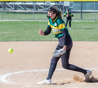Crystal Lake South's Christina Toniolo took the mound and pitched 6 innings against Cary-Grove Wednesday, April 25, 2018 in Cary. Crystal Lake South wins big, 10-2. KKoontz-For Shaw Media