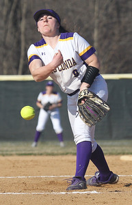 Candace H. Johnson-For Shaw Media Wauconda's Kayla Serio delivers a pitch against Grayslake Central in the second inning at Wauconda High School. Grayslake Central won 12-1.(4/24/18)